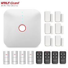 Wolf Guard 2.4G Wifi Wireless Smart Home Alarm System House Security Burglar DIY Kit APP Control PIR Motion Detector Sensor