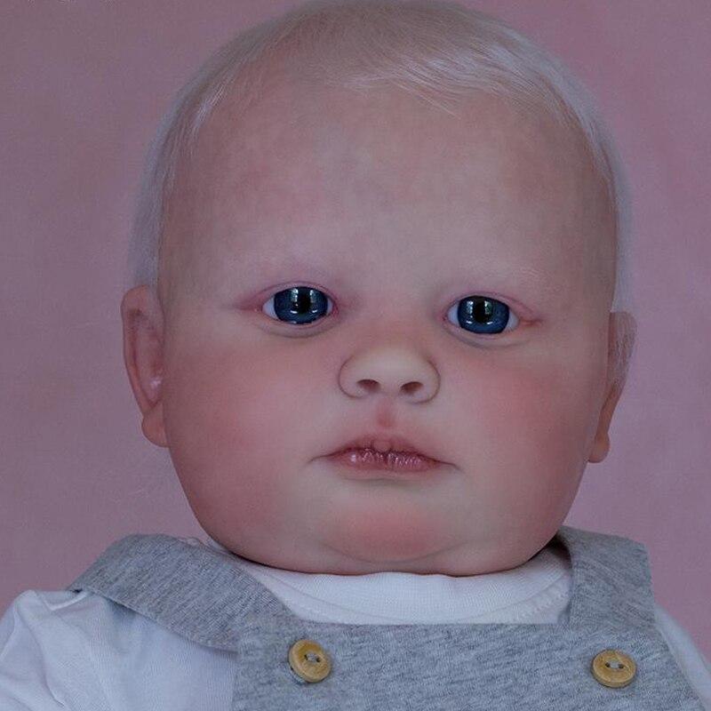 RSG Reborn Baby Puppe 23 Zoll Lebensechte Newborn 3 Monat Joseph Vinyl Unlackiert Unfinished Puppe Teile DIY Blank Puppe Kit