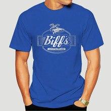 Garagem de biff topos t camisa delorean, de volta ao futuro, mc fly, doc brown, carro de manga curta T-Shirt-0064A