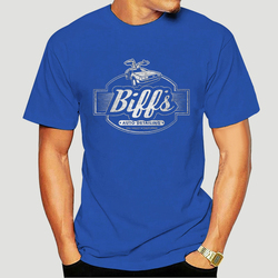 Biff's Garage Tops Tee T Shirt Delorean, Back To The Future, Mc Fly, Doc Brown, Car Short-sleeved T-Shirt-0064A