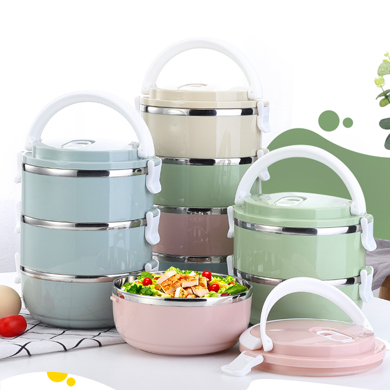 304 stainless steel Japanese hot food lunch box picnic lunch box for children who work in the school office Lunch Boxes     - title=
