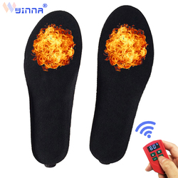 2000mAH BK Material Electrically Heating Insoles with Rechargeable Battery Winter Outdoor Red Keep Warm Foot Pad Size EUR #35-46