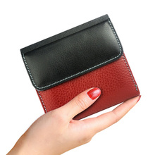 Genuine Leather Womens Wallets Luxury Short Female Purses Small Ladies Purse ID Card Holder Women Mini Colorful Money Bags