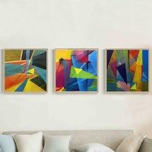 Абстрактная геометрическая форма цветной и красивый акриловый