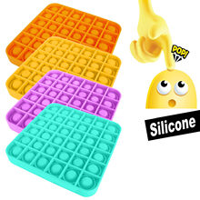 Pop-lo empurrar bolha fidget sensorial brinquedos antiestresse brinquedos tabletop quebra-cabeça brinquedos espremer silicone engraçado empurrar pop brinquedos para crianças adulto