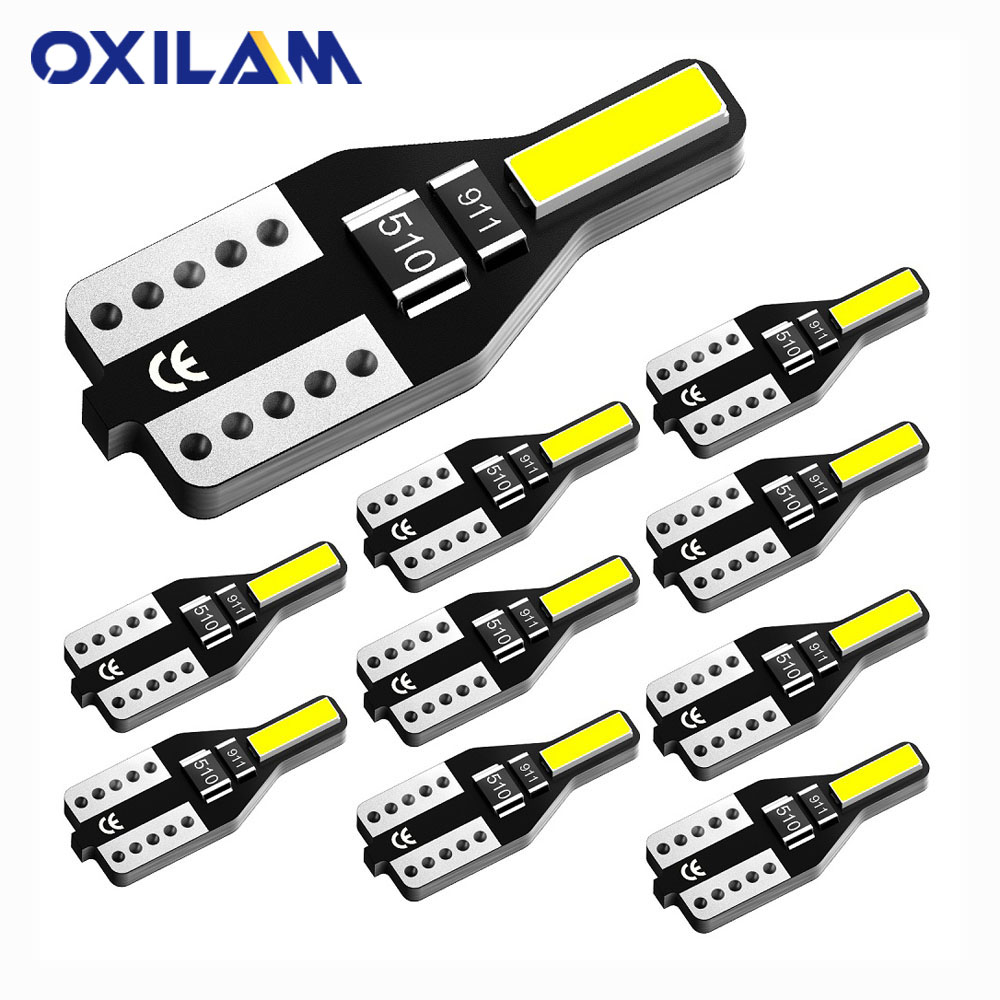 10Pcs W5W T10 LED Lamp Auto Car Interior Light for <font><b>Volvo</b></font> XC60 <font><b>XC90</b></font> S60 V70 S80 S40 V40 V50 XC70 V60 C30 850 C70 XC 60 12V White image