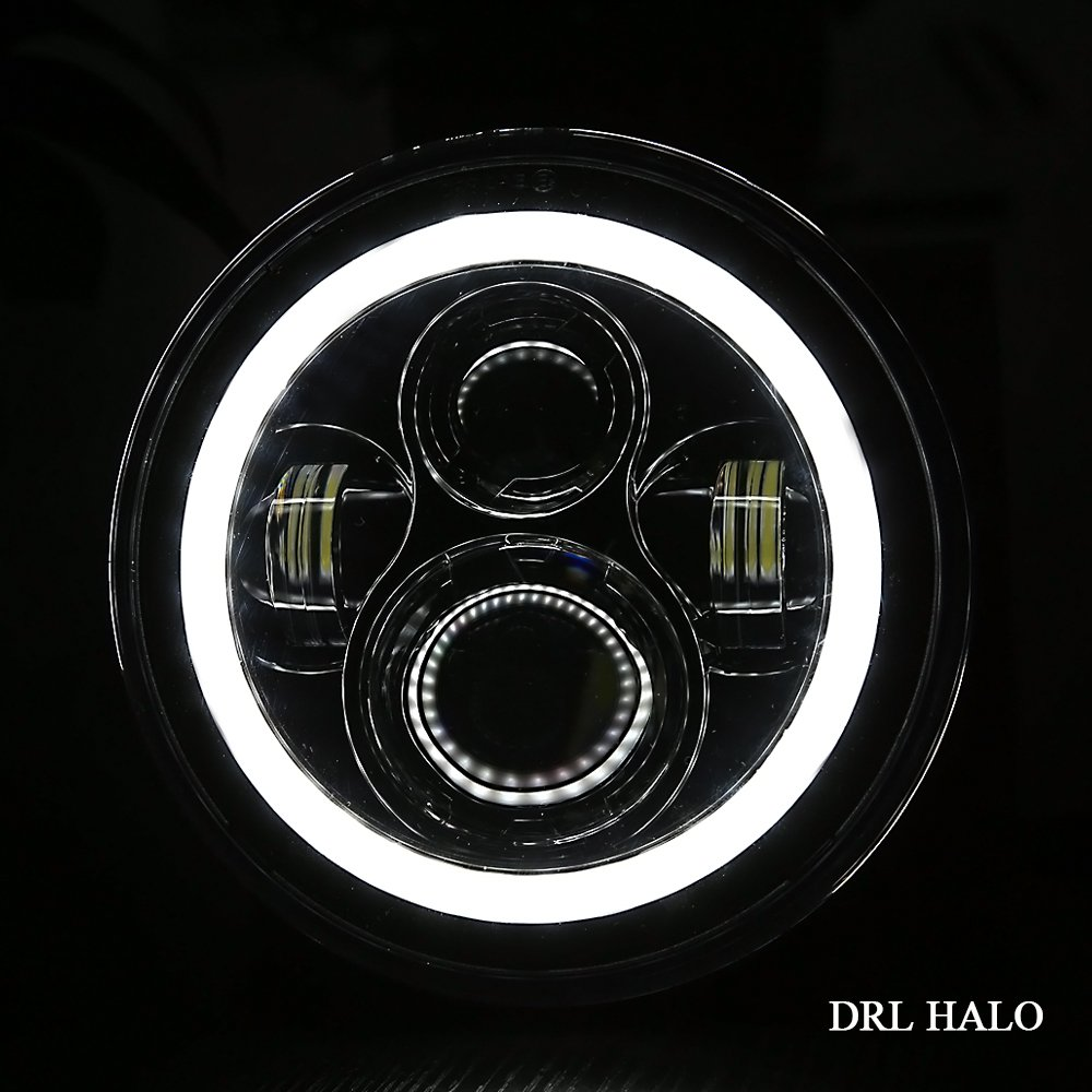 7 inch Angel Eye DRL Motorcycle Hi&lo Beam Headlight Turn Signals For Harley Sportster XG XR VRSCD Dyna Projector LED Headlamp