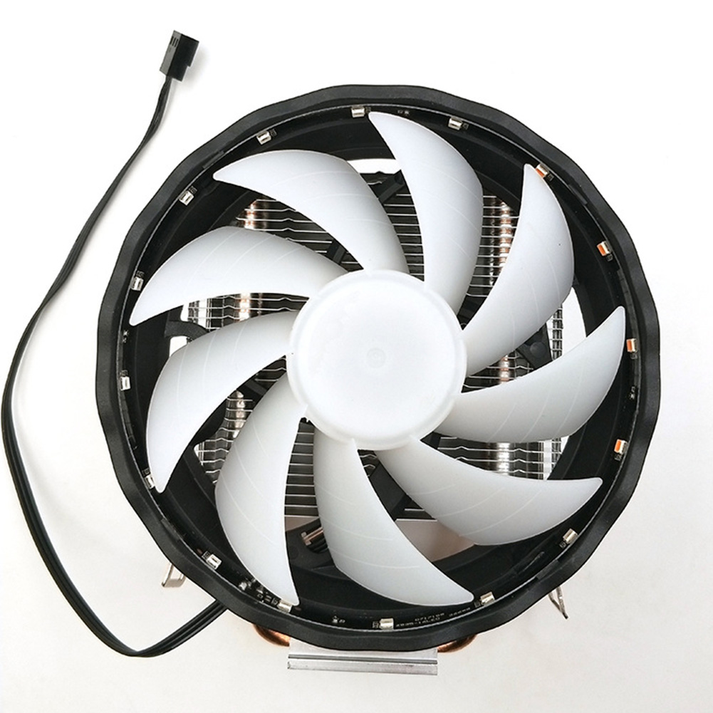 Silent 12V Copper 2 Heatpipes Desktop Computer Led <font><b>RGB</b></font> Fan Radiator <font><b>CPU</b></font> <font><b>Cooler</b></font>  3 Pin Durable Cooling For LGA 1155/<font><b>1151</b></font> AMD image