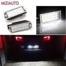 2 Pcs Led Kentekenplaat Verlichting Voor Renault Clio Laguna 2 Megane 3 Twingo Master Vel Satis SMD3528 Nummer Plaat lichten Auto Lamp