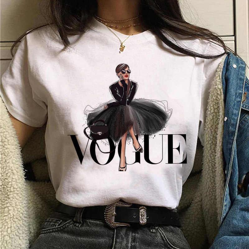Vogue prenses t shirt estetik kadın moda kızlar 90s tshirt harajuku ulzzang baskı grafik yazlık t-shirt üst tee kadın