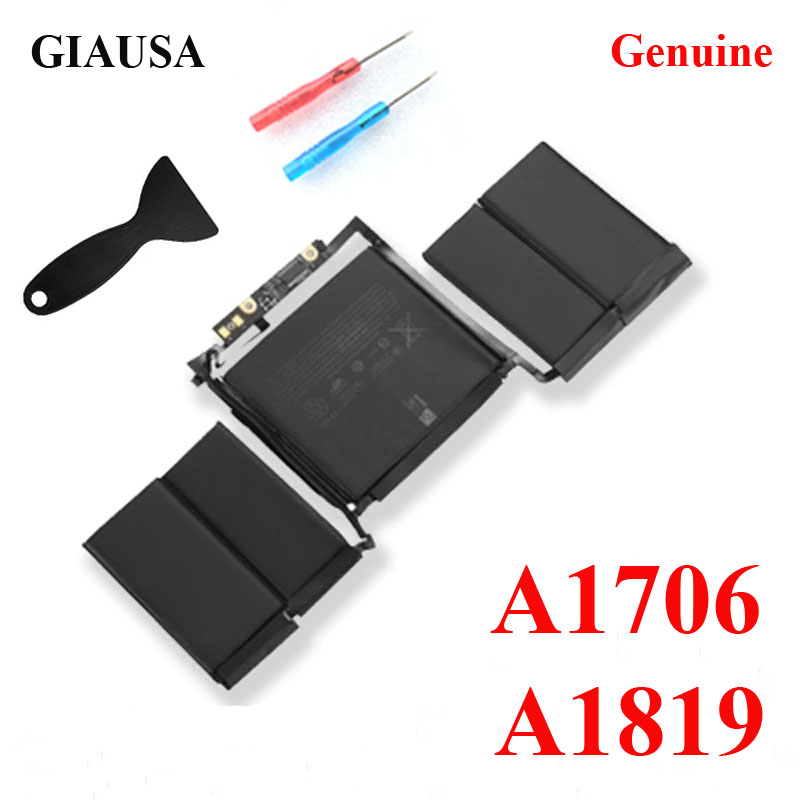 GIAUSA Battery Macbook Genuine-A1819-Battery For A1706 Pro 13'' Touch-Bar Free-Tools