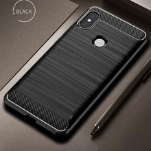 Pokrowiec z włókna węglowego odporny na wstrząsy futerał na telefon do Xiaomi Mi 8 Mi Max 3 Case 360 pełna ochrona zderzak do Mi8 Redmi Note 6 Pro tanie tanio RKSZJBYZC CN (pochodzenie) Pół-owinięte Przypadku Zwykły For Xiaomi Mi Max 3 mi 8 plain