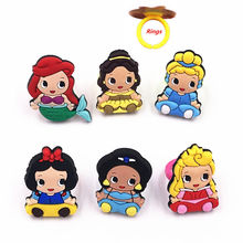 1pcs Cartoon Princess Cinderella Snow white Ariel Mermaid Elsa Rings Children Kids Finger Ring for Birthday Gift Cosplay Jewelry(China)
