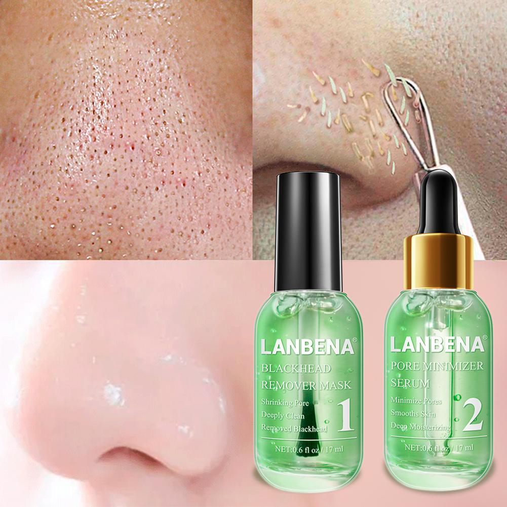 2 Bottles/set Blackhead Remover Shrinking Pores Liquid Essence Skin Treatment Moisturizing Whitening Anti-aging Skin Care