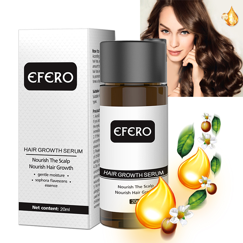 EFERO Natural Ginger Extracts Men Hair Growth Oil Gentle Noisture Nourish Anti-Hair Loss Products Conditioner for Growth image