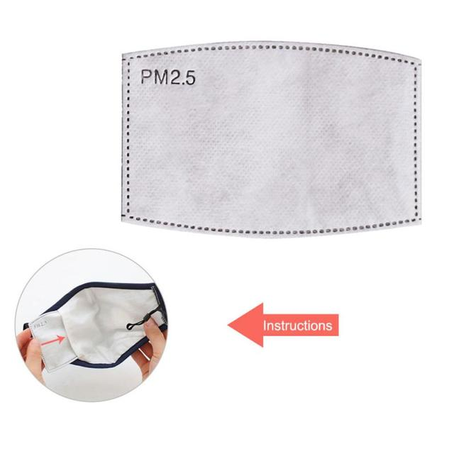 New Dust Mask PM2.5 Filter Anti-Fog Anti Dust Flu Face Mask Filter Healthy Air Filter Dustproof Antibacteria Protective dropship