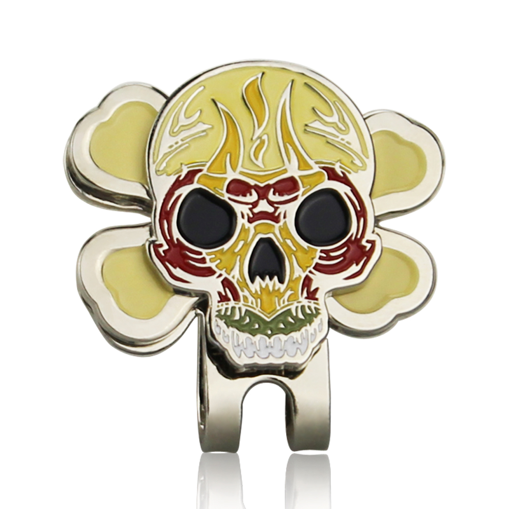 The Skull Golf Ball Marker With Hat Clip, Brand New, Wholesale Price, Golf Accessories