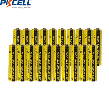 20pcs/lot*PKCELL 400mAh AAA Ni-CD Rechargeable Battery Batteries Button Top NiCd 3A 1.2V