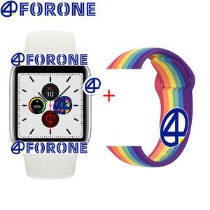 Умные часы для мужчин, женщин, влюбленных, пара, поддержка Bluetooth, вызов, пульсометр, шагомер, умные часы серии 5 IWO 10 11 12 PK X6 X7