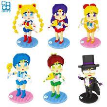 Diamond Blocks Sailor Moon Auction Figure Juguete Micro