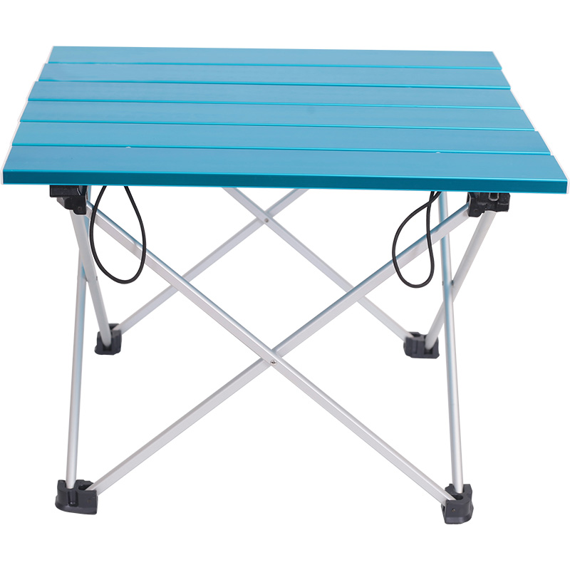 Aluminum Folding Table Camping Outdoor Lightweight Desk For Camping Beach Backyards BBQ Party Ultra-light Folding Desk S Size