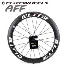 Roda tubular da bicicleta da estrada das rodas 20 24h do carbono de elite dt 350s 700c 25mm 27mm de largura