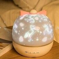 TOP! Stars Starry Sky LED Night Light Projector Moon Novelty Table Night Lamp Battery USB Night Light for Children