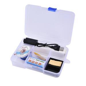 Image 2 - 5V 8W Mini taşınabilir kablosuz havya kalem kaynak seti şarj edilebilir pil havya ve USB lehimleme aracı #40