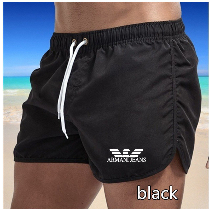 2021 New Running Shorts Men Gym Fitness Training Quick Dry Beach Short Pants Male Summer Sports Workout Fitness Bottoms