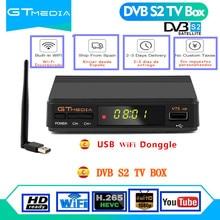 Receptor de satélite DVB S2 Europa decodificador GTMedia V7S HD receptor Digital de satélite DVB S2 V7S 1080P Actualización de WIFI USB Freesat V7