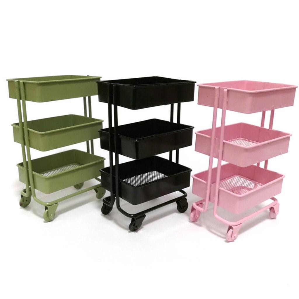 1:12 Dollhouse Miniature Furniture Shelf Bookshelf With Wheels Storage Display Rack Dollhouse Furniture Accessories