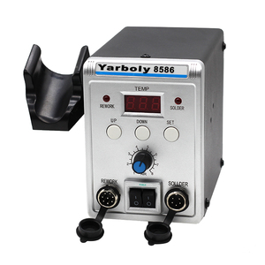 Image 5 - 220 В 580 Вт паяльная станция 8586 2 в 1 SMD наладочная станция воздуходувка горячего воздуха Тепловая пушка + Электрический паяльник