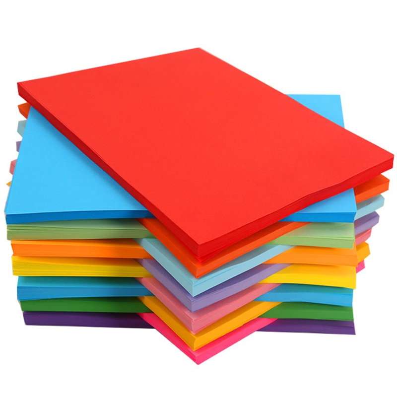 100 Color Copy Paper 180G A4 Print Copy Paper Transfer Paper Drawing Paper Office Supplies Color Paper