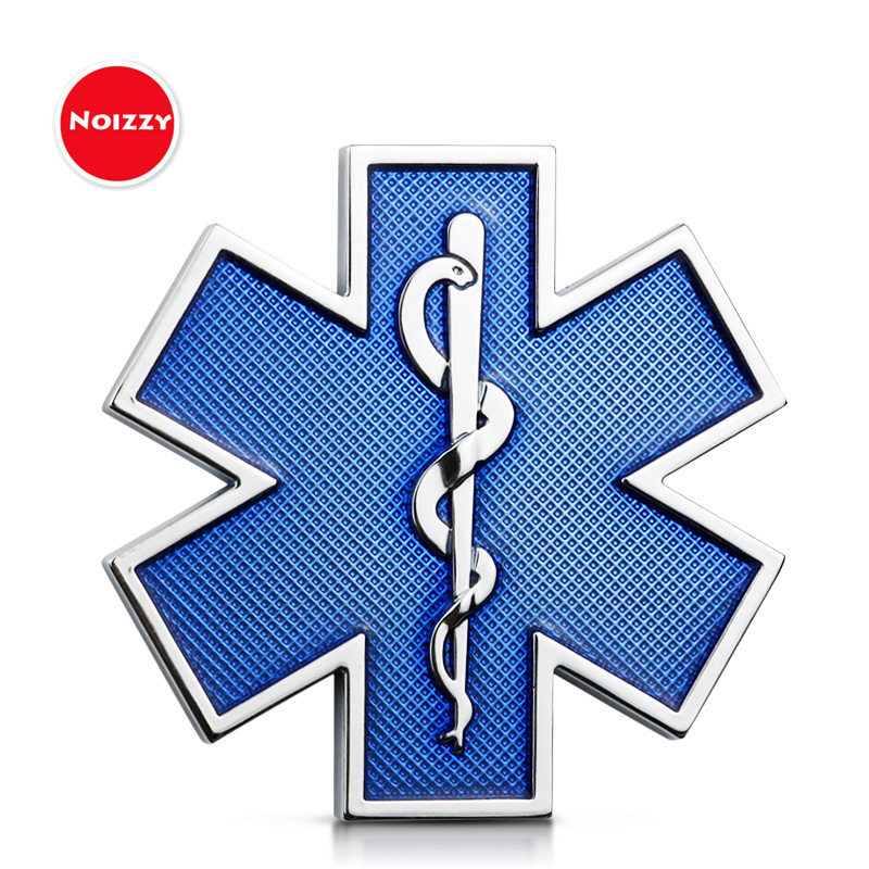 Noizzy Star of Life Car 3D Metal Badge Emblem Auto Motor Blue Sticker Trunk Fender Automobile Decor Fashion Tuning Accessories