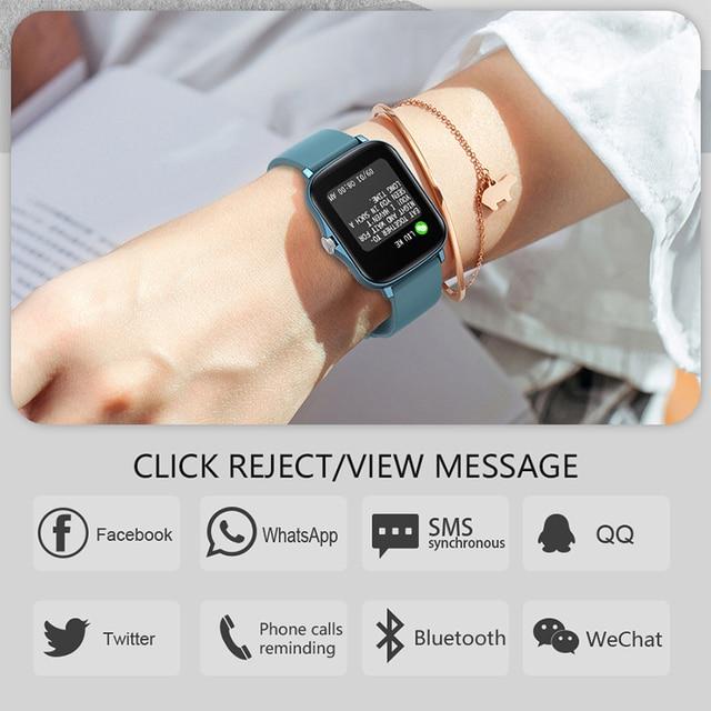Full Touch Y20 Sport Smart Watch Men Women IP68 custom dial Heart Rate Fitness Tracker Smartwatch wristwatch GTS 2 P8 plus 6