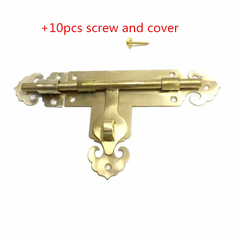 STRONG SECURITY DOOR CHAIN+SCREWS HEAVY DUTY SOLID BRASS Safety Guard Lock Catch