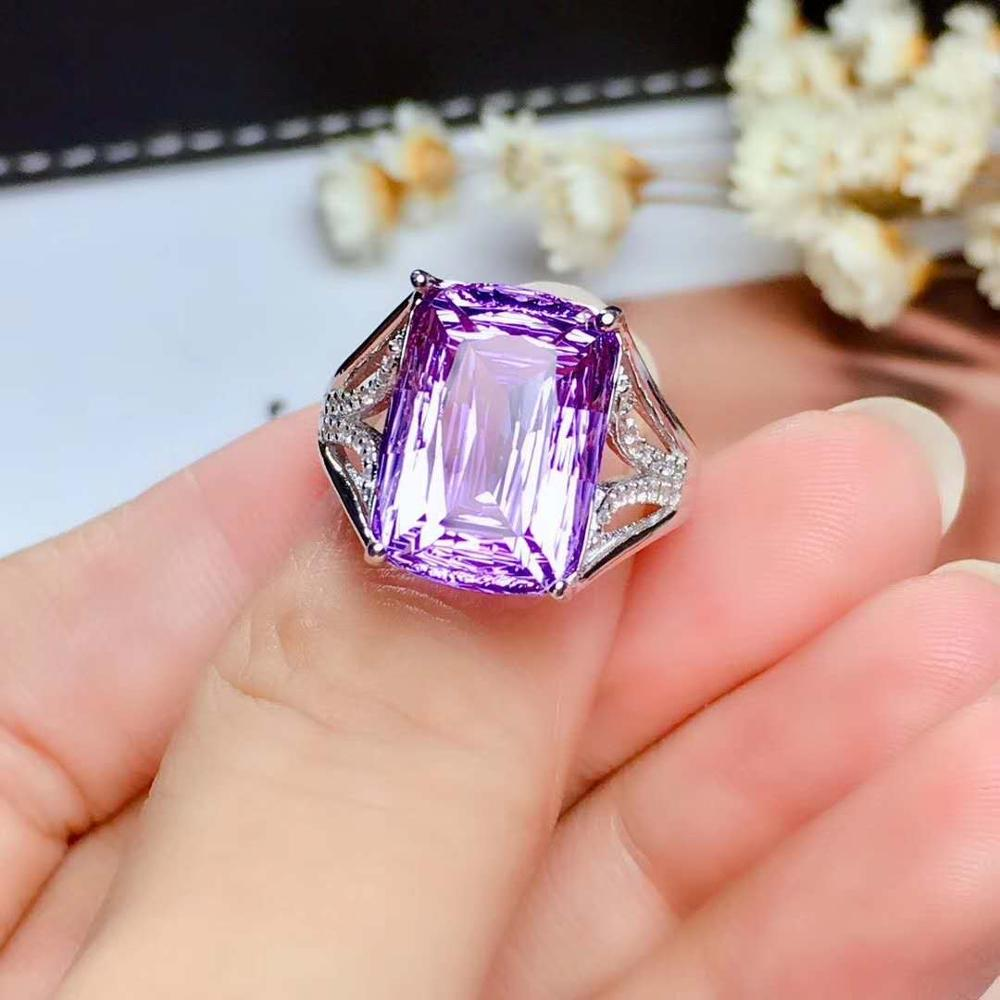 100% Natural And Real Amethyst Ring, 925 Silver Ring, Gemstone, Authentic Color, Clean Pure