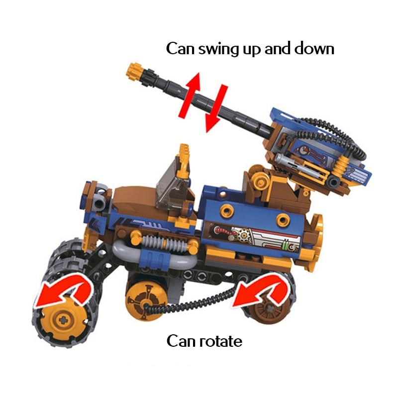Winner Age Of Steam City Military Mechanical Chariot Pirates Collar Battle Mech Building Blocks