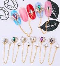 10or 50 pcs/lot 85mm long chain glitter crystal/rhinestone charms