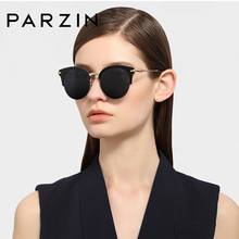PARZIN Polarized Retro Sunglasses Women Fashion Semi-