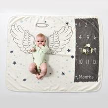 Children's Blankets Baby Monthly Growth Milestone