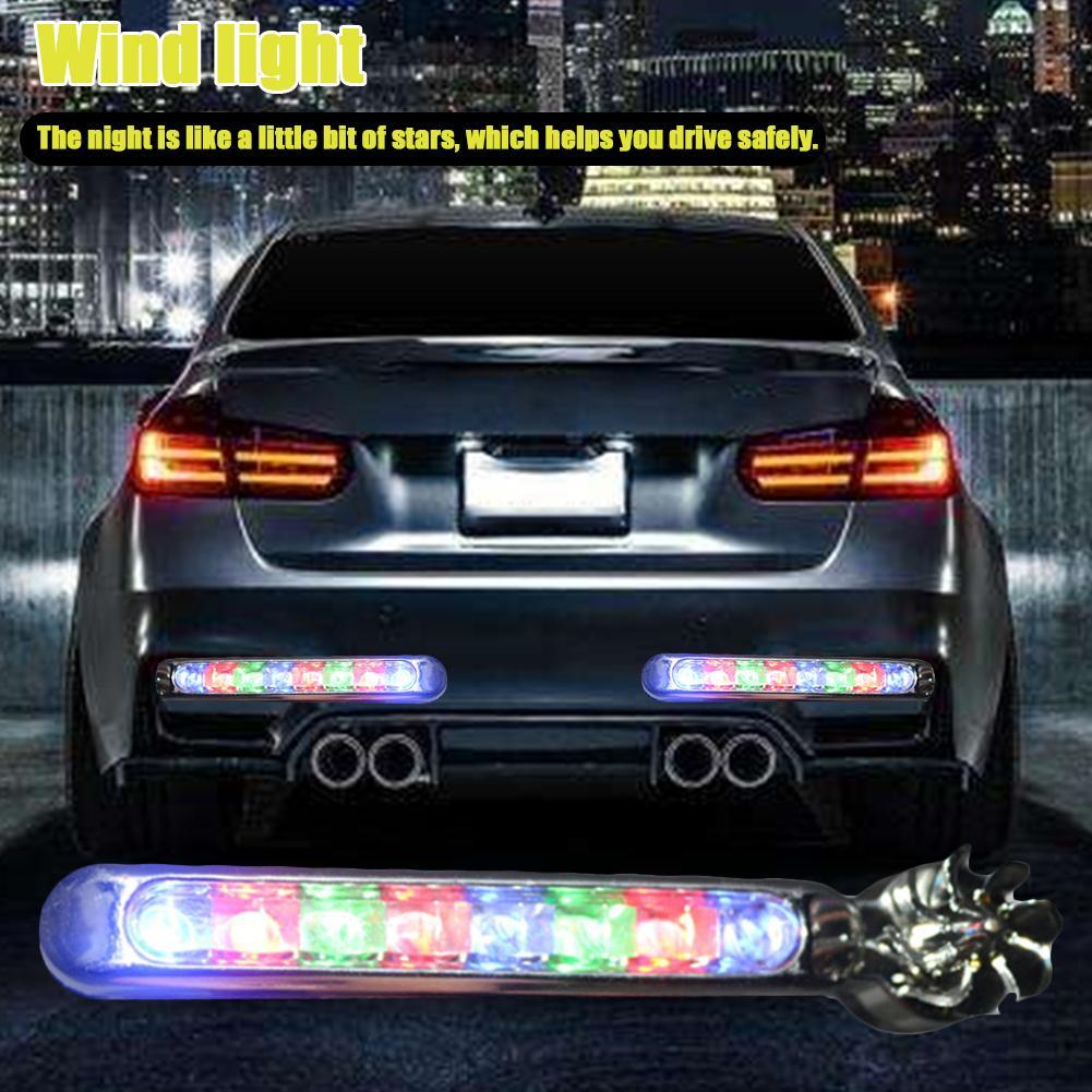 2 шт энергии ветра не нужно внешний источник питания автомобиля дневные ходовые огни 8 светодиодный дневные ходовые огни дневной свет фары лампы