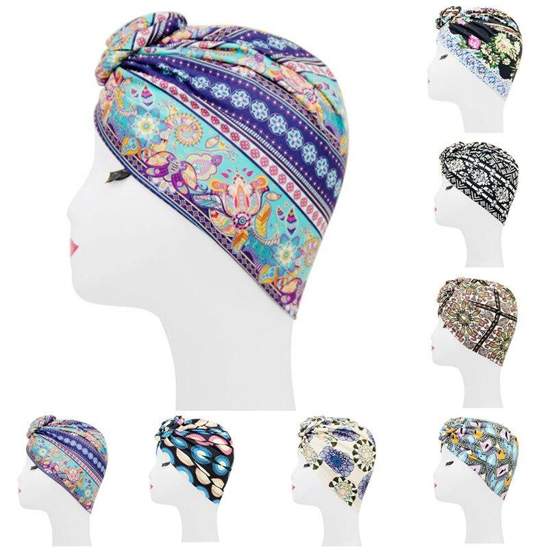 Islamic Muslim Hijab Women's Hedging Fashion Print Mixed Cotton Dustproof Street Fashion Ladies Hijab