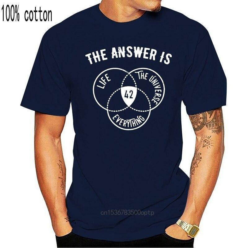 Ответ на все 42 Philosophyer футболка Оригинал; Сезон весна-осень; Модный вязаный свитер из хлопка с рисунком; Одежда с круглым вырезом, рубашка