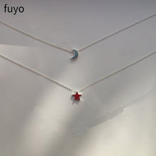 Ожерелье чокер с подвеской в виде луны и звезд