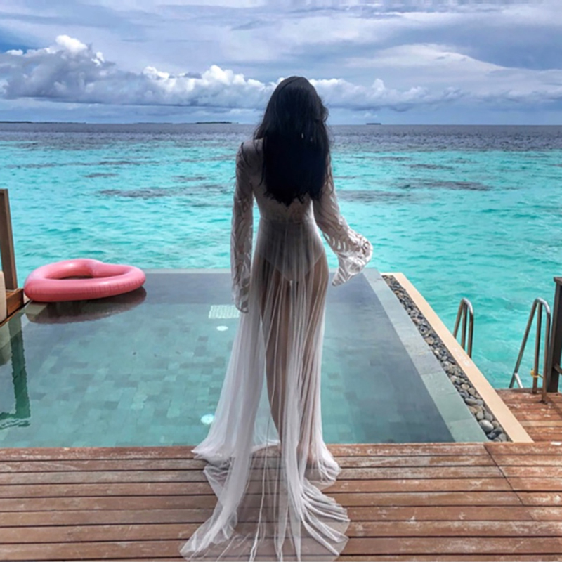 Beach Dresses Pareo Bikinis Female 2019 Cover Up Summer Dress Ladies Silk Skirt Solid Acetate Sierra Surfer The Swimsuit Wear