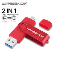 WANSENDA OTG lecteur Flash USB lecteur de stylo haute vitesse 256GB 128GB 64GB 32GB 16GB 2 en 1 Micro clé USB & USB 3.0 clé Pendrives