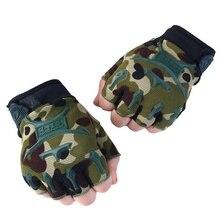 Велосипедные перчатки для мальчиков, Воздухопроницаемый полупалец, перчатки, открытая спортивная рыбалка, для верховой езды, скалолазание, Нескользящие тренировочные перчатки