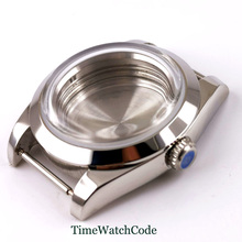 39mm watch case parts arched glass sapphire crystal polished case fit for NH35 NH35A NH36 NH36A movement