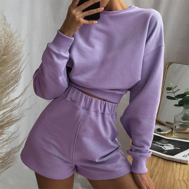 Streetwear Casual Hoodies Women Sweatshirt for Women Autumnal Harajuku Drop-shoulder Crop Top Womens Clothes